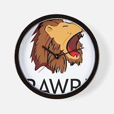 Lion Rawr Wall Clock