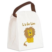 L is for Lion Canvas Lunch Bag