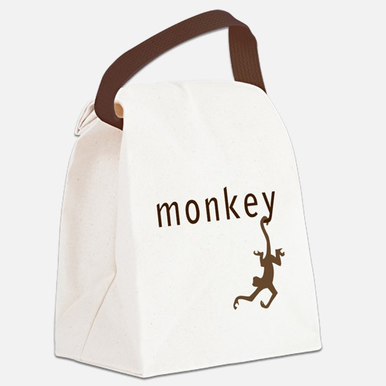 Classic Monkey Canvas Lunch Bag