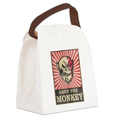 Obey The Monkey Canvas Lunch Bag
