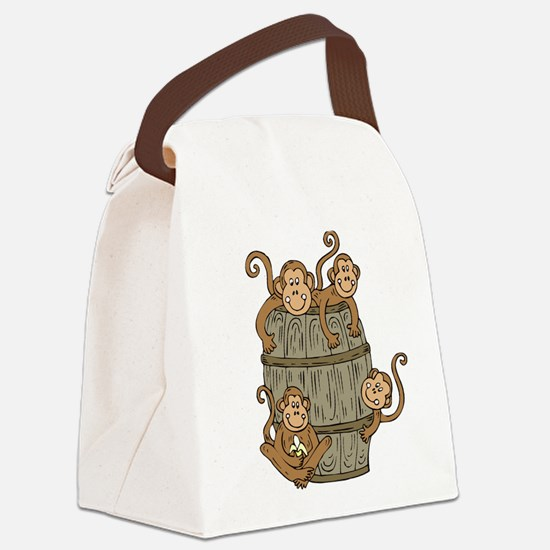 Barrel Monkey Canvas Lunch Bag