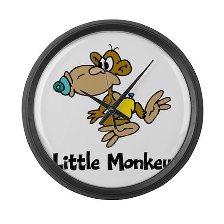 Little Monkey Large Wall Clock