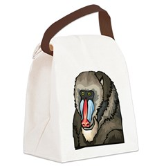 Baboon Canvas Lunch Bag