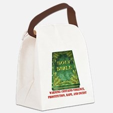 bible_violence01.png Canvas Lunch Bag