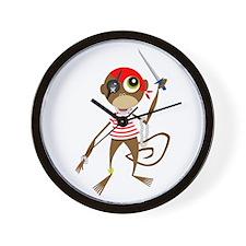 Pirate Monkey Wall Clock