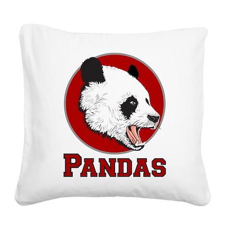 Pandas Square Canvas Pillow