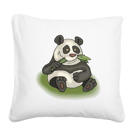 Cute Panda Pillow : Cute Panda Square Canvas Pillow by esangha