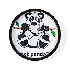 Got Panda? Wall Clock