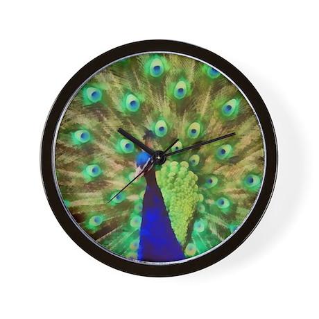 Peacock Art Wall Clock
