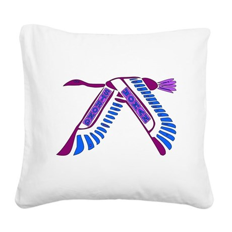 strong_woman011.png Square Canvas Pillow
