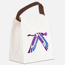 strong_woman011.png Canvas Lunch Bag