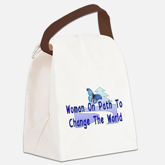 woman_strong01.png Canvas Lunch Bag