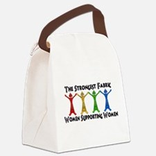 Women Supporting Women Canvas Lunch Bag