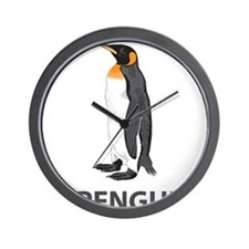 I Love Penguins Wall Clock