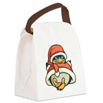 Christmas Penguin Canvas Lunch Bag