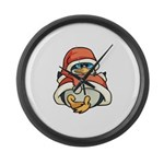 Christmas Penguin Large Wall Clock