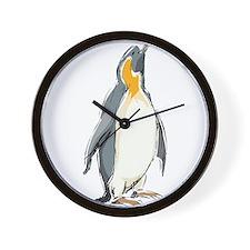 Penguin Illustration Wall Clock