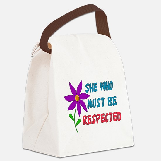respect01.png Canvas Lunch Bag