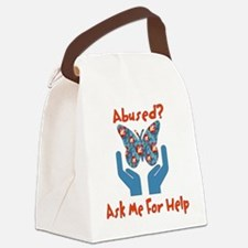 domestic_violence_help01.png Canvas Lunch Bag