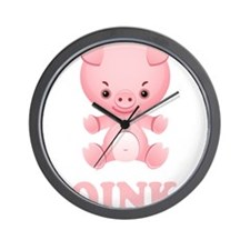 Oink Pig Wall Clock