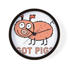 Got Pig Wall Clock