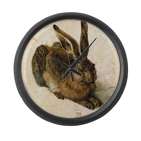 Albrecht Durer Young Hare Large Wall Clock