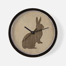 Vintage Rabbit Wall Clock