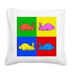 Pop Art Rabbit Square Canvas Pillow