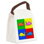 Pop Art Rabbit Canvas Lunch Bag