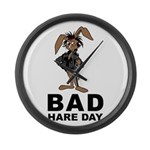 Bad Hare Day Large Wall Clock