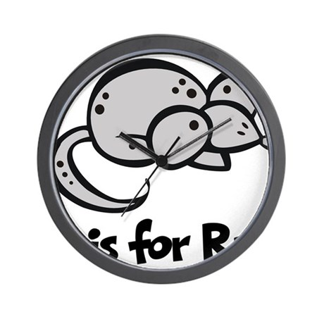 R is for Rat Wall Clock
