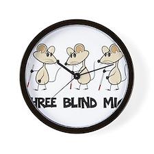 Three Blind Mice Wall Clock
