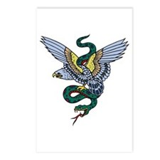Eagle and Snake Tattoo Postcards (Package of 8)