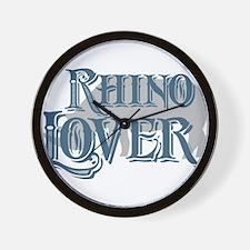 Rhino Lover Wall Clock