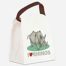 I Love Rhinos Canvas Lunch Bag