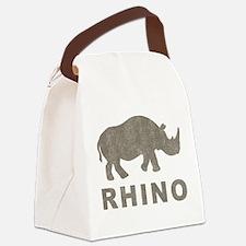 Vintage Rhino Canvas Lunch Bag