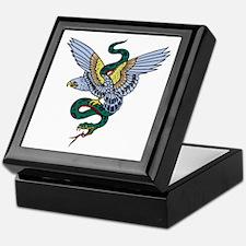Eagle and Snake Tattoo Keepsake Box