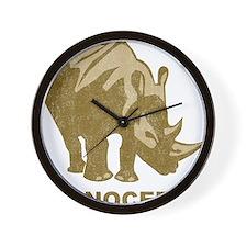 Vintage Rhinoceros Wall Clock