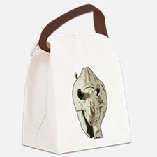 Realistic Rhinoceros Canvas Lunch Bag