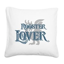 Rooster Lover Square Canvas Pillow
