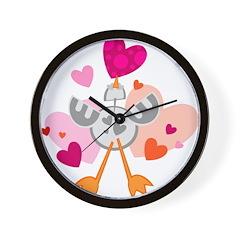 Love Chicken Wall Clock