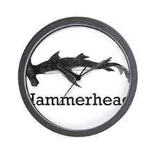 Cute Hammerhead shark Wall Clock