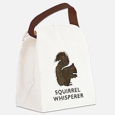 Vintage Squirrel Whisperer Canvas Lunch Bag