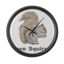 Love Squirrel Large Wall Clock