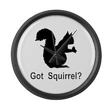Got Squirrel Large Wall Clock