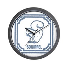 Vintage squirrel Wall Clock