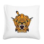 Fierce Tiger Square Canvas Pillow