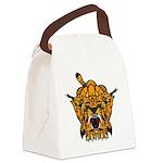 Fierce Tiger Canvas Lunch Bag