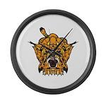 Fierce Tiger Large Wall Clock