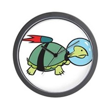 Space Turtle Wall Clock